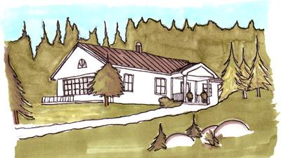 Bygga hus på skogstomt