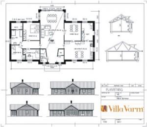 Husritning Villa Varm