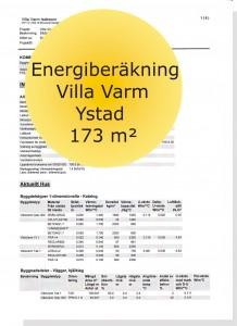 Energiberäkning villa Ystad