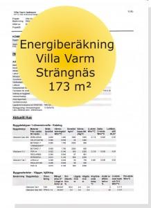 Energiberäkning Villa Strängnäs